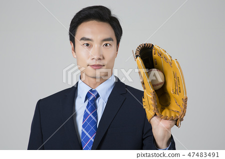 Businessman with various sports, business concept photo. 183 47483491