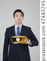 Businessman with various sports, business concept photo. 173 47483745