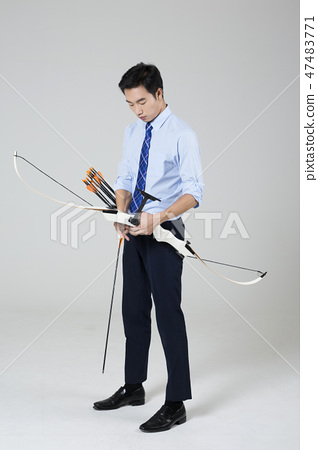 Businessman with various sports, business concept photo. 142 47483771