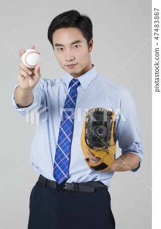 Businessman with various sports, business concept photo. 158 47483867