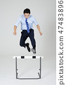 Businessman with various sports, business concept photo. 110 47483896