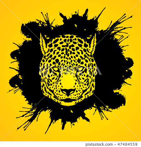 Cheetah Face graphic vector. 47484559