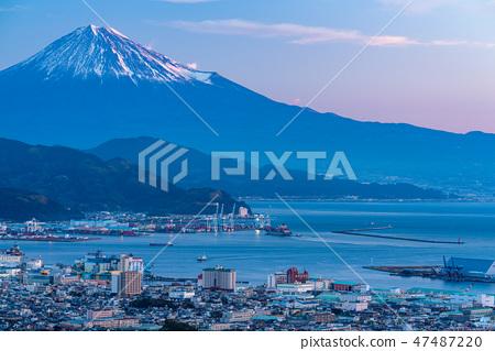 """""""靜岡縣""""富士山/清水港的景色""""來自Nipponaira"""" 47487220"""