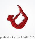 Yoga pose exercise cartoon graphic vector. 47488215