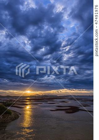 영종도,중구,인천시,일출,구름,흐림 47491976