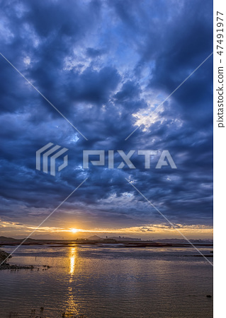 영종도,중구,인천시,일출,구름,흐림 47491977