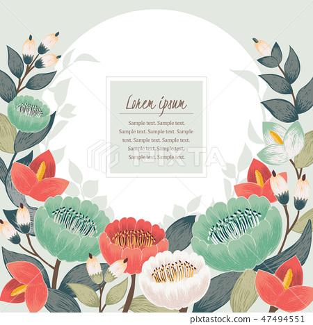 Vector illustration of a floral frame in spring 47494551
