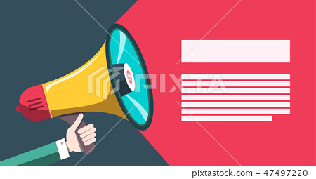 Announcement Concept with Megaphone. 47497220