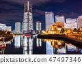 """""""神奈川县""""横滨港未来·整栋建筑照亮夜景""""2018"""" 47497346"""