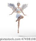 Real angel perming3DCG illustrations material 47498108