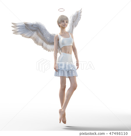 Real angel perming3DCG illustrations material 47498110