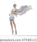 Real angel perming3DCG illustrations material 47498113