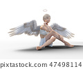 Real angel perming3DCG illustrations material 47498114