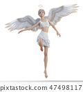 Real angel perming3DCG illustrations material 47498117