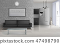 modern, room, hall 47498790
