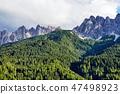 Dolomites mountains in warm season 47498923