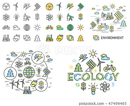 Digital vector yellow green ecology 47499465