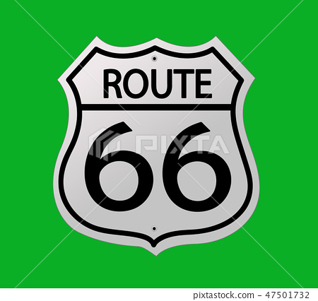 Glossy route sixty six icon 47501732
