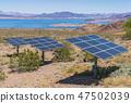 solar panel on sunny day. 47502039