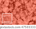 Living Coral color of the Year 2019. Bokeh background with coral in trendy color 47503333