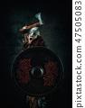 viking, ax, shield 47505083