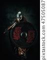 viking, ax, shield 47505087