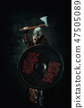viking, ax, shield 47505089