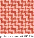Living Coral color of the Year 2019. gingham tablecloth texture background seamless with coral in 47505154
