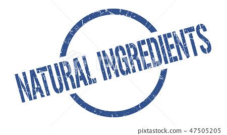 natural ingredients stamp 47505205