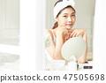 女性美容化妝 47505698
