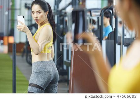 女性健身健身房运动服 47506685
