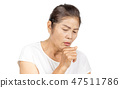 old asian woman coughing bronchitis or asthma 47511786