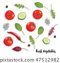 cucumber, tomato, ingredient 47512982