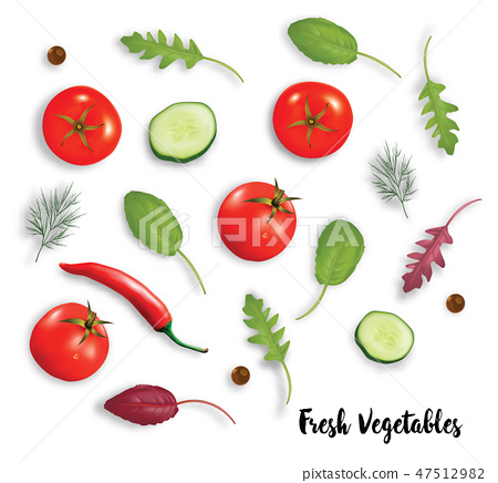 Fresh vegetables herbs and spices  47512982
