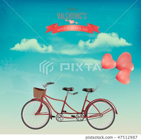 Retro Valentine's Day holiday background 47512987