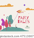 Vector illustration of a magic forest for a book of fairy tales. 47513007