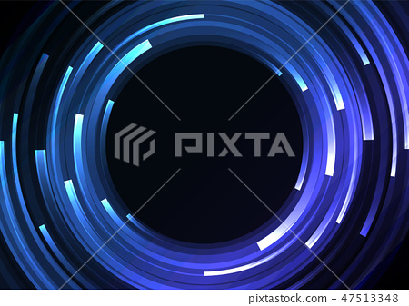 blue circle digital abstract layer background 47513348