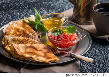 Traditional Russian pancake 47515917