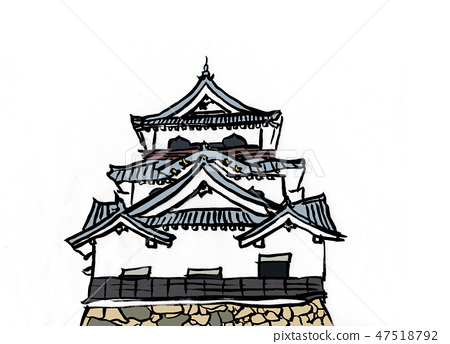 Illustration Hikone Castle 100 Great castle 47518792