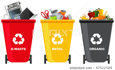 Set of different trash can 47522589