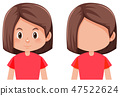 Bob hair girl character 47522624