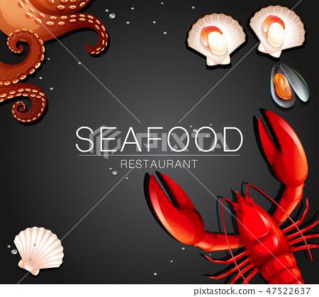 Fresh seafood restaurant banner 47522637