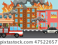 Fire in the town 47522657