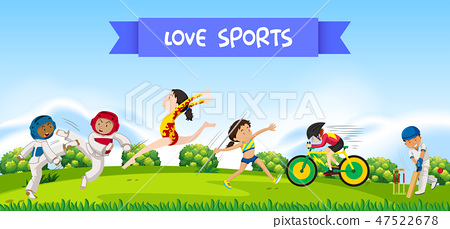 Sport athletes in nature 47522678