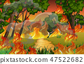 Fire in the forest 47522682