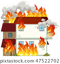 house, danger, flame 47522702