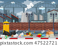 Pollution in factory town 47522721
