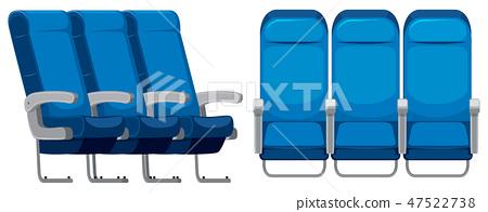 Set of airplane seat 47522738