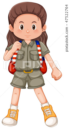 A girl scout character 47522764
