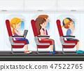 Passenger on the plane 47522765